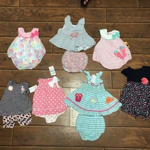 3-6M/6M Baby Girl Summer Outfit Bundle of 7!